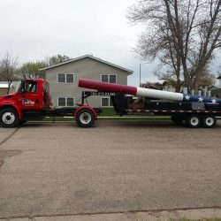 Flag pole installation truck - ND Flag Pole Guy