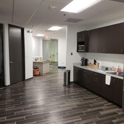 Office kitchen remodel with new floors