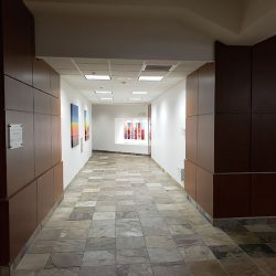 Commercial office hallway after renovations