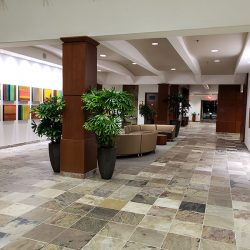 Seating area that has been remodeling and designed by contractors