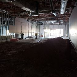 The interior of an office remodel
