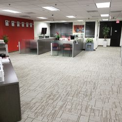 Innovative office remodel with new carpet and interior design