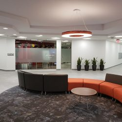 Renovated sitting area in commercial business