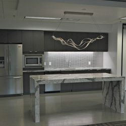 Commercial kitchen remodel with new appliances