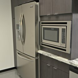 Updated kitchen appliances after commercial remodel