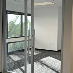 Office door and carpet remodel