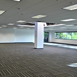 Open office floor plan after renovation