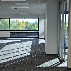 Open office floor plan after remodel
