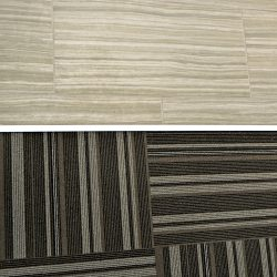 Wood and carpet flooring from office renovation