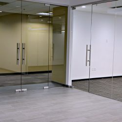 Commercial office glass doors