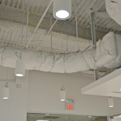 Commercial HVAC upgrades in office