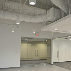 Renovated office interior