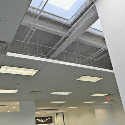 Commercial office ceiling and skylights