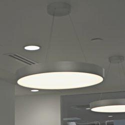 Commercial lights installed after renovation