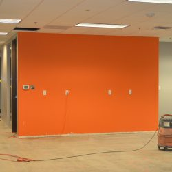 Interior office space being remodeled