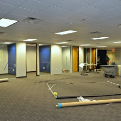 Business remodeling project with commercial contractors