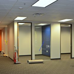 Office remodel with new carpets