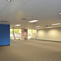 Open floorplan in commercial office space