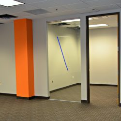 Commercial construction for office interior