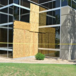 Exterior commercial construction project