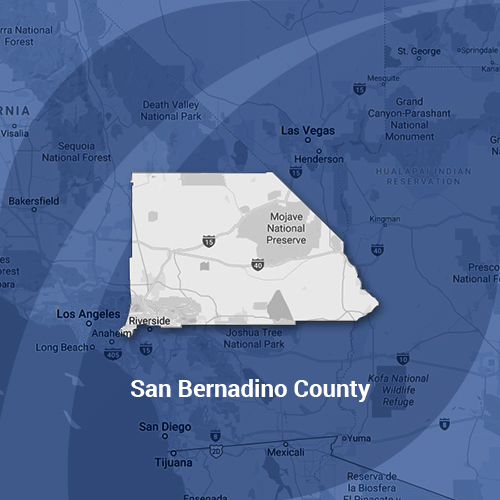 San Bernadino County Map