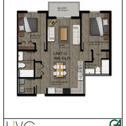 Heritage Heights Unit G 896 Sq. Ft. 2 BR 2 BA