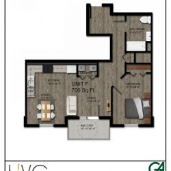 Heritage Heights Unit F 700 Sq Ft. 1 BR 1 BA