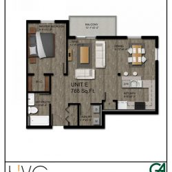 Heritage Heights - Unit E 718 Sq. Ft. 1 BR, 1 BA