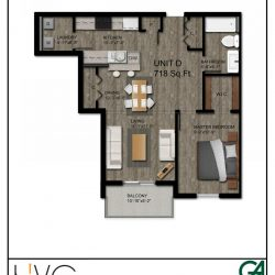Heritage Heights Unit D 718 Sq. Ft. 1 BR 1 BA