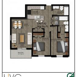 Heritage Heights Unit A2 864 Sq. Ft. 2 BR 2 BA
