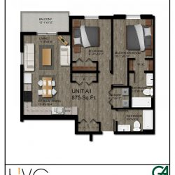 Heritage Heights Unit A1 875 Sq. Ft. 2 BR 2 BA