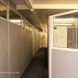 Gray and white office fitout