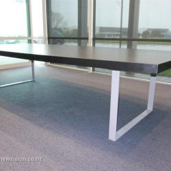 Dark Wood Meeting Room Table