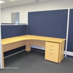 Office furniture in light wood
