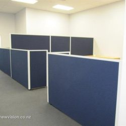 Cubicles in Blue