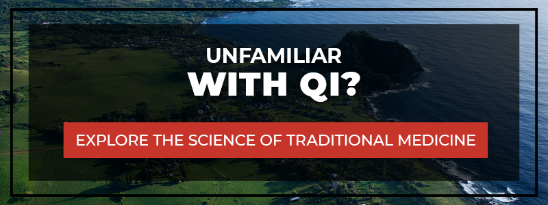 """""""Unfamiliar With Qi? Explore the science of traditional medicine"""" CTA banner"""