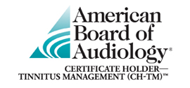American Board of Audiology Certificate Holder Tinnitus Management Logo