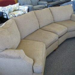Gently used angled sofa from No Place Like Home in Boulder.