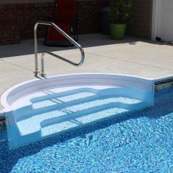 Beautiful Pool Entry Steps into Vinyl Pool
