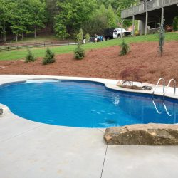 luxurious custom in ground fiberglass and vinyl pool - Above Ground Fiberglass Swimming Pools