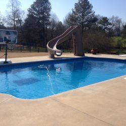Awesome Backyard Pool Slide and Vinyl Pool