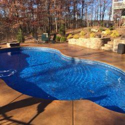 Luxurious Custom In-Ground Fiberglass and Vinyl Pool