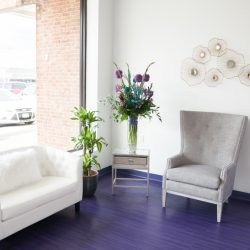 The waiting area at our beauty salon - Oasis By Plush