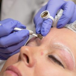 During the microblading process - Oasis By Plush