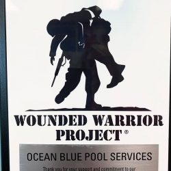 Certificate for Wounded Warrior Project hanging on wall