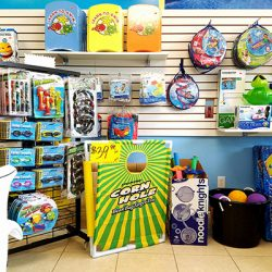 Water toys inside Ocean Blue retail store