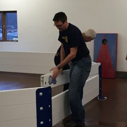 Simple Octopit assembly for gaga ball
