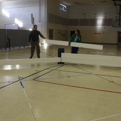 Octoball gaga pit assembly
