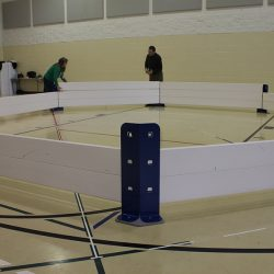 Setting up Octopit USA gaga ball pit