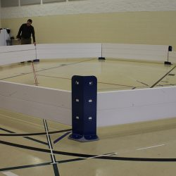 Indoor assembly of Octopit USA gaga pit